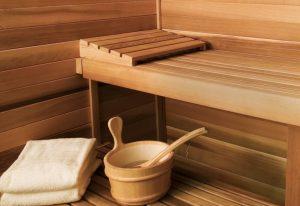 Innenansicht einer Sauna